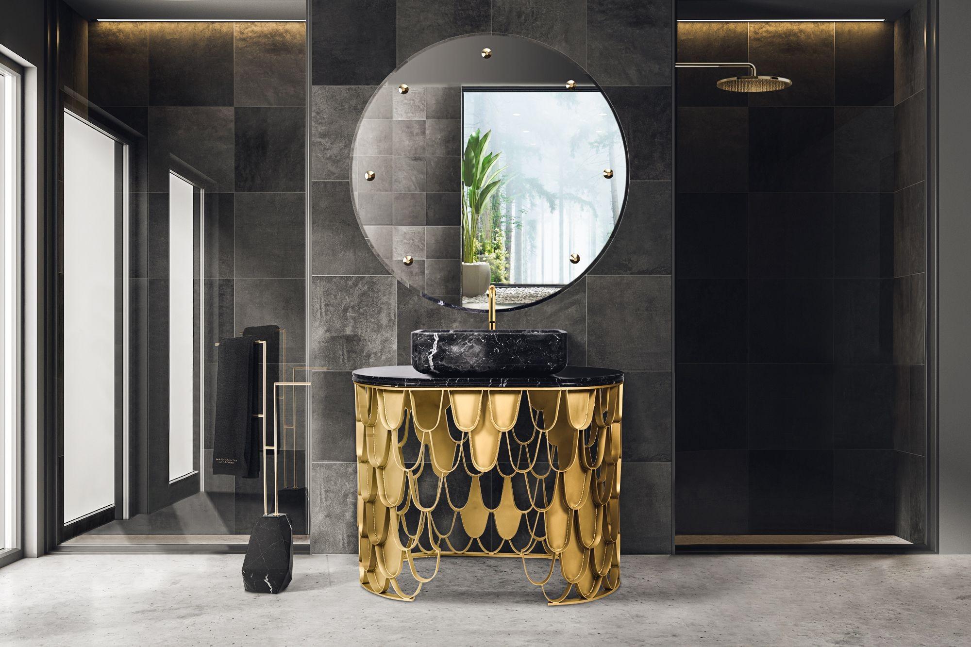 Bathroom Inspirations To Get The Perfect Home Oasis Bathroom Inspirations Bathroom Inspirations To Get The Perfect Home Oasis black luminous and polished modern bathroom with koi single washbasin