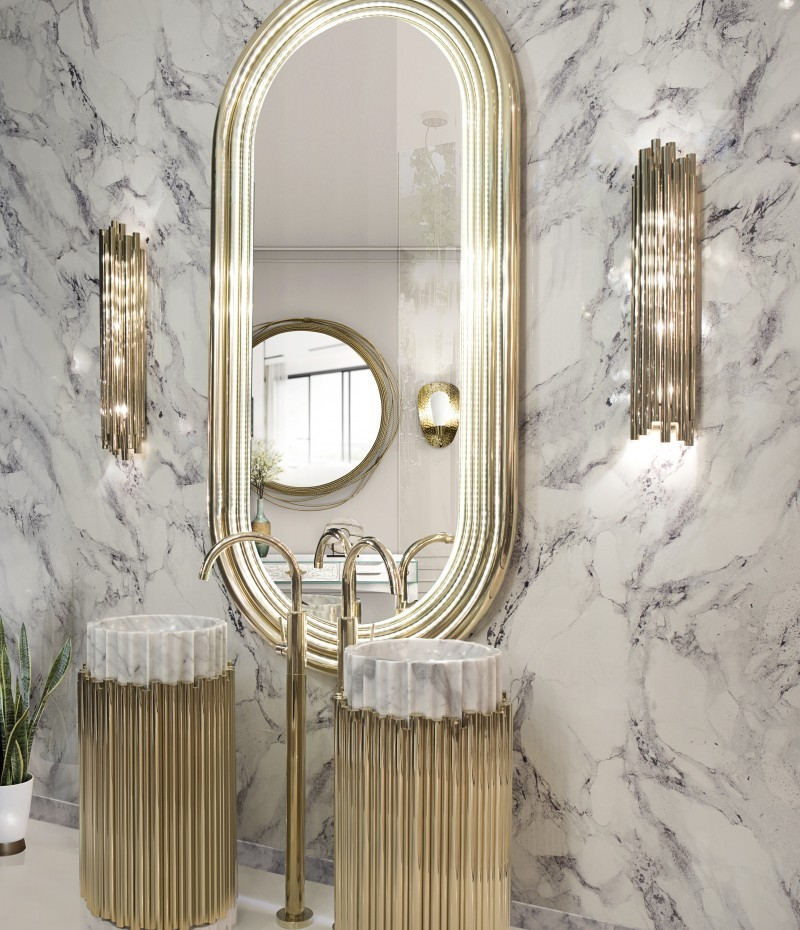 Bathroom Mirrors To Get A Luxurious Decor bathroom mirrors Bathroom Mirrors To Get A Luxurious Decor blissful marble bathroom with colosseum mirror and symphony freestand