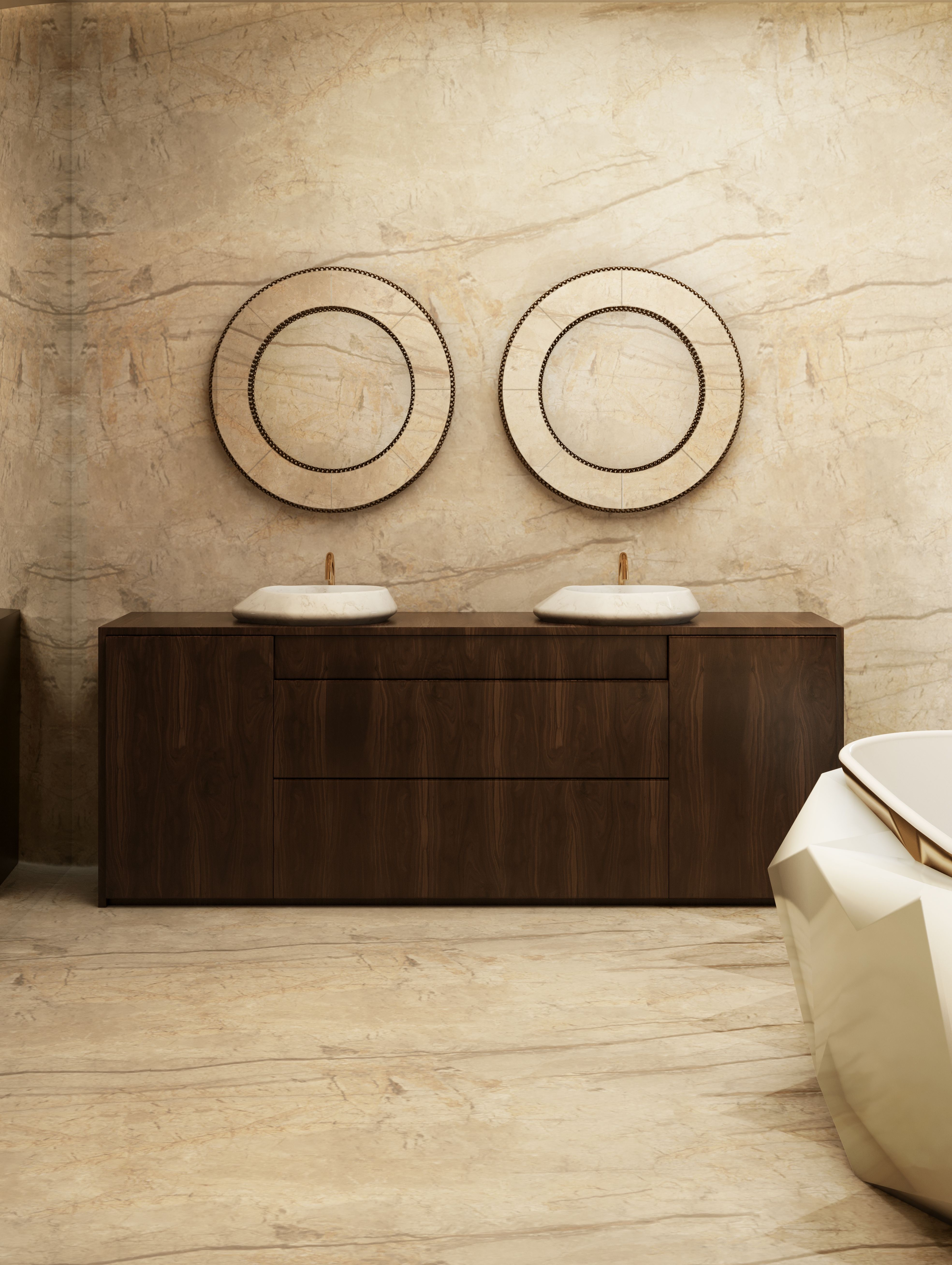 Scandinavian Style Meets Luxury Bathrooms scandinavian style Scandinavian Style Meets Luxury Bathrooms luxury bathroom with white and wood accents with ato collection