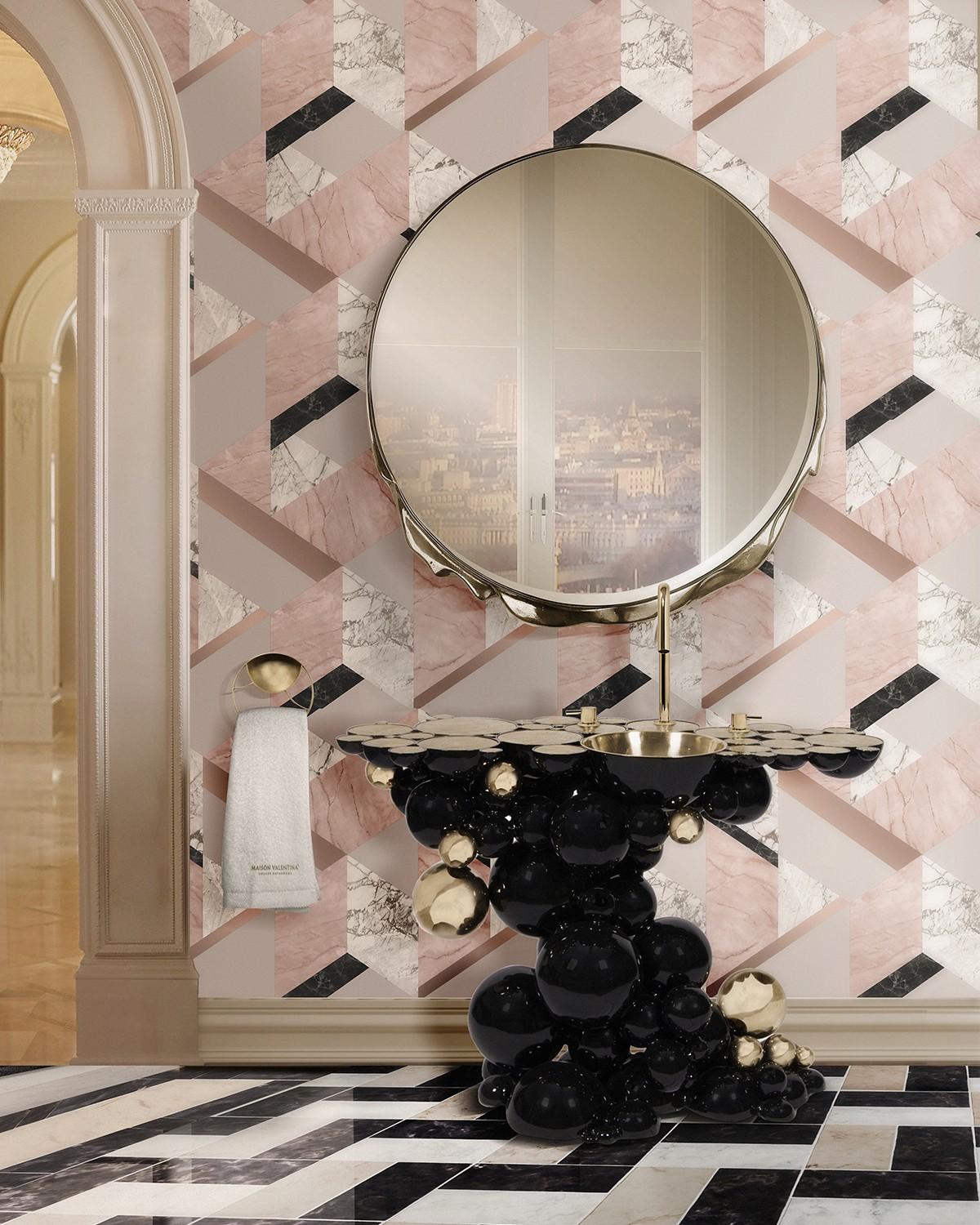 Pink Interiors: The Importance of Color In Interior Design pink interiors Pink Interiors: The Importance of Color In Interior Design soft pink bathroom set with newton washbasin