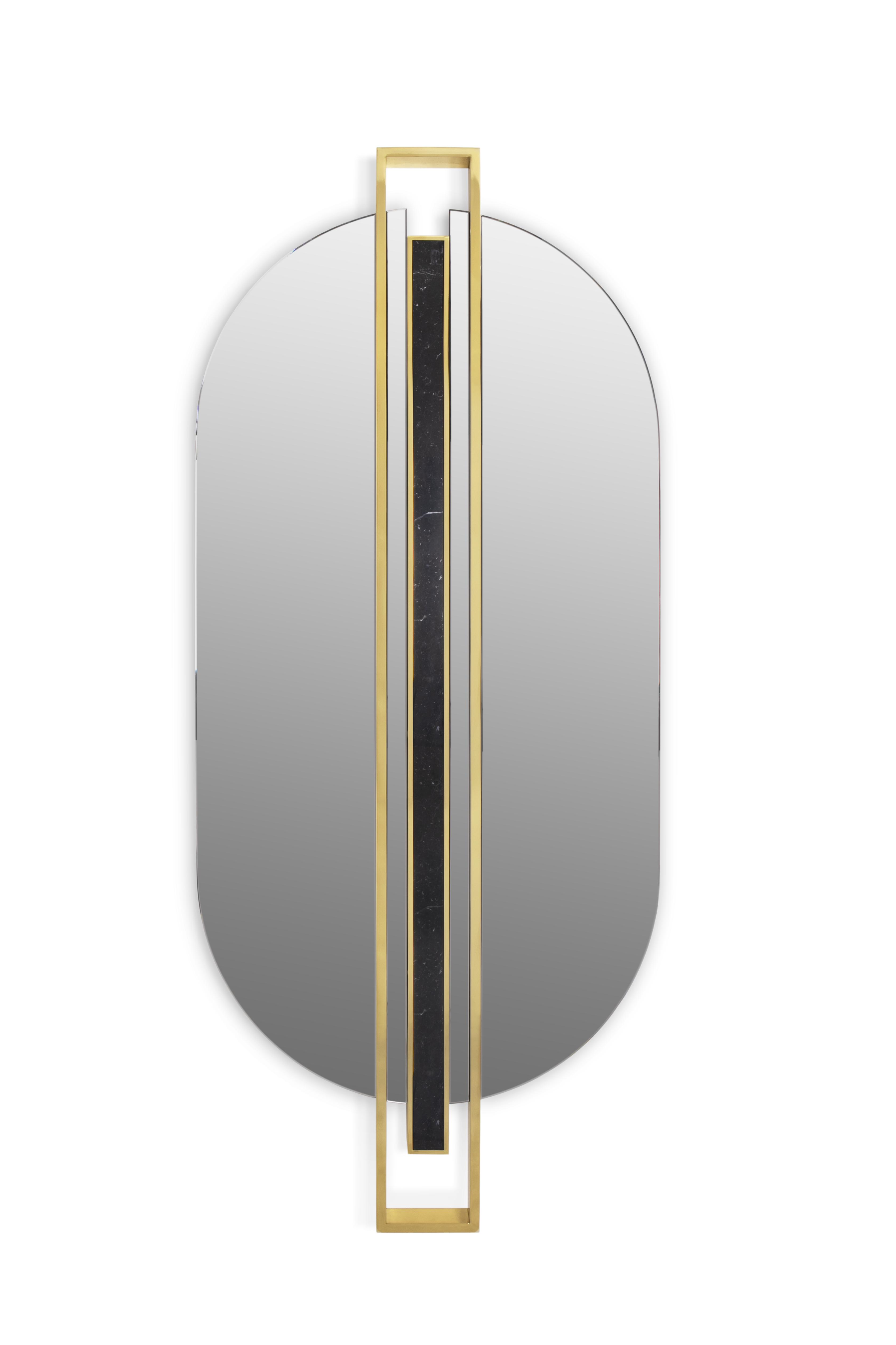 Shield Oval Mirror