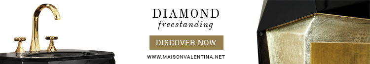 Maison Valentina Diamond Freestanding Cassis Color Be Inspired by the Modern and Rich Textures of the Cassis Color Diamond Freestanding Maison Valentina