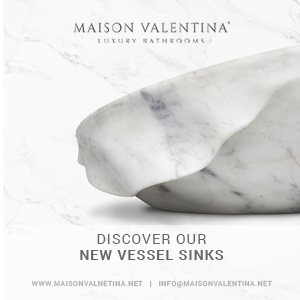 Maison Valentina Side Bar - Discover Our New Vessel Sinks  Dining and Living Room Banner Lateral Discover Our New Vessel Sinks