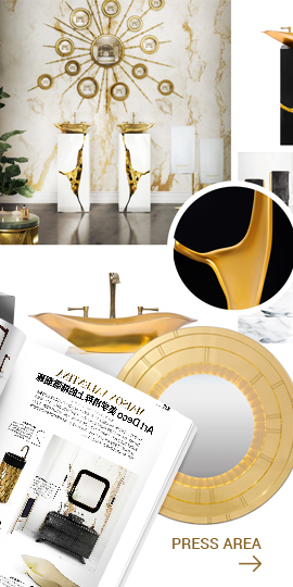 Maison Valentina Side Banner - Press Area designer bathrooms Advertising banner lateral Press