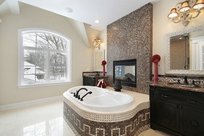 15 Bathrooms with fireplace luxury bathrooms 15 Luxury Bathrooms with Fireplaces Depositphotos 8702162 s 718x478