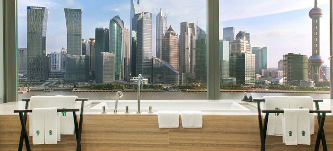 Top 10 Most Amazing Hotel Bathrooms in the World_3Shanghai's Banyan Tree Hotel in China hotel bathrooms Top 10 Most Amazing Hotel Bathrooms in the World Top 10 Most Amazing Hotel Bathrooms in the World 3Shanghais Banyan Tree Hotel in China