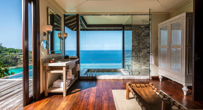 Top 10 Most Amazing Hotel Bathrooms in the World_7Four Seasons Seychelles' Serenity Villa hotel bathrooms Top 10 Most Amazing Hotel Bathrooms in the World Top 10 Most Amazing Hotel Bathrooms in the World 7Four Seasons Seychelles Serenity Villa