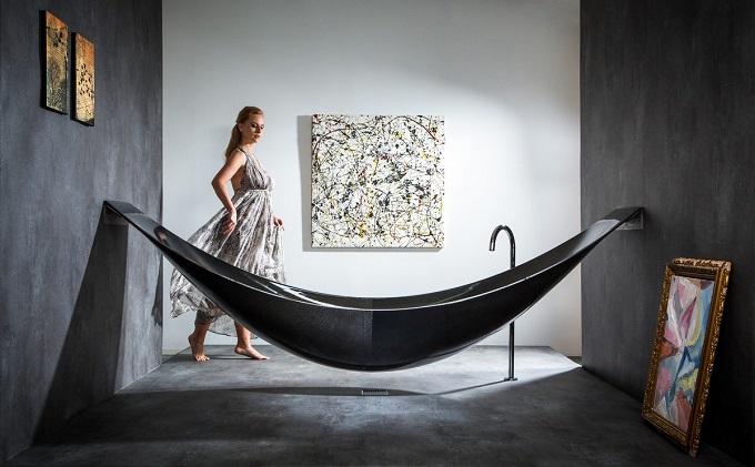 Get inspiried - New concept of bathtub1 design furniture Get inspired – New Design Furniture of bathtub black hammock tub 1