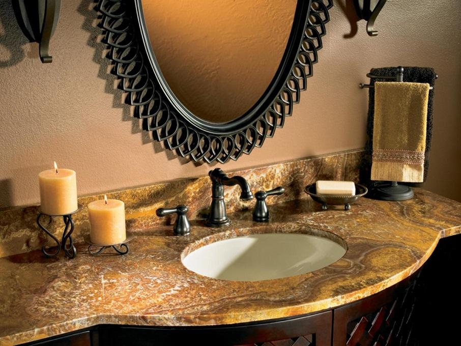 Bathroom Countertops 101: The Top Surface Materials  bathroom countertops Bathroom Countertops 101: The Top Surface Materials granito