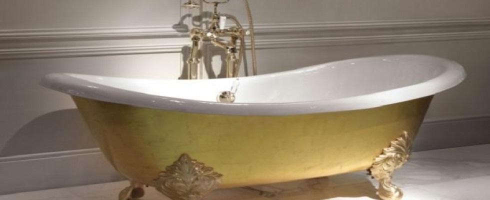 DEVON & DEVON´S devon devon 24 carat gold leaf mida bathtub x2uht1