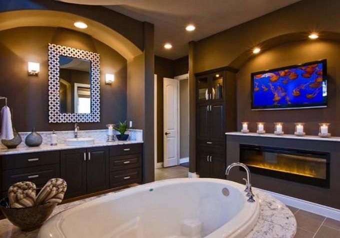 Amazing Luxury Bathrooms with Fireplaces bathrooms with fireplaces Amazing Luxury Bathrooms with Fireplaces Bathroom Fireplace 4