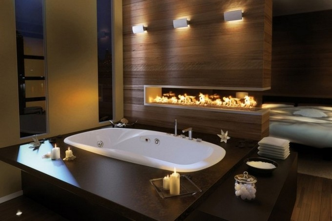 Amazing Luxury Bathrooms with Fireplaces bathrooms with fireplaces Amazing Luxury Bathrooms with Fireplaces luxury bathroom design with fireplace 6