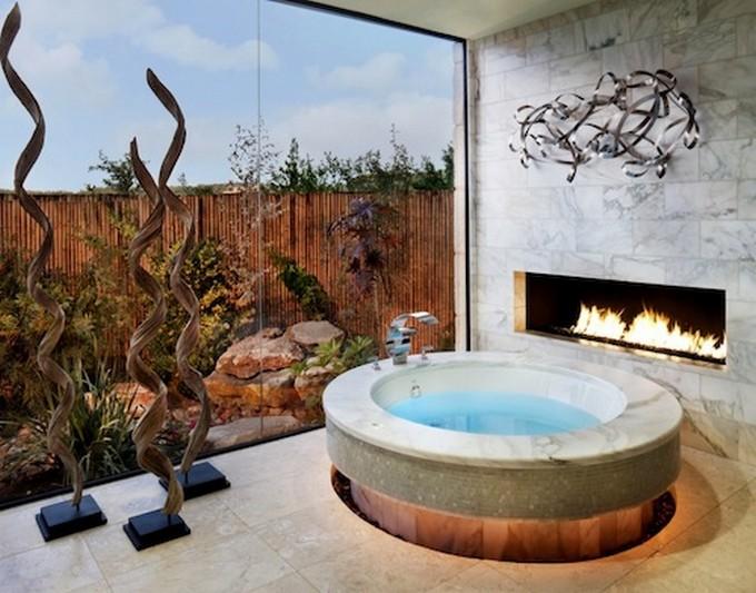 Amazing Luxury Bathrooms with Fireplaces bathrooms with fireplaces Amazing Luxury Bathrooms with Fireplaces luxury bathroom fireplace 3