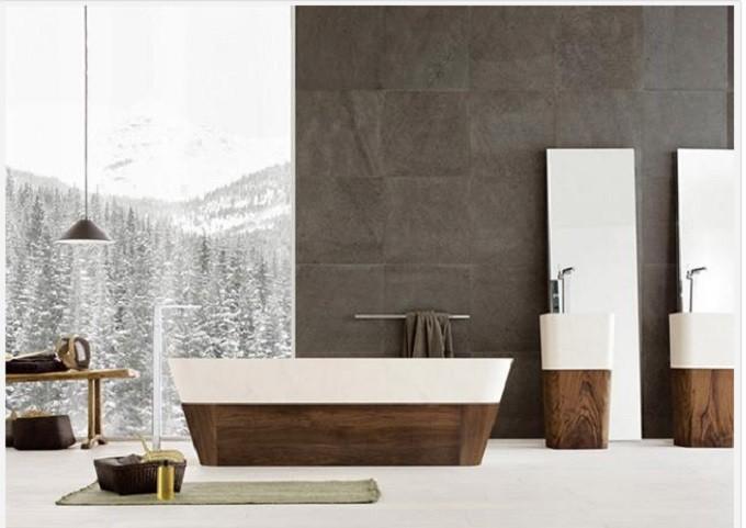 4  Luxury Bathrooms: Freestanding bathtubs define luxurious trends to modern bathrooms  41 e1438256532500