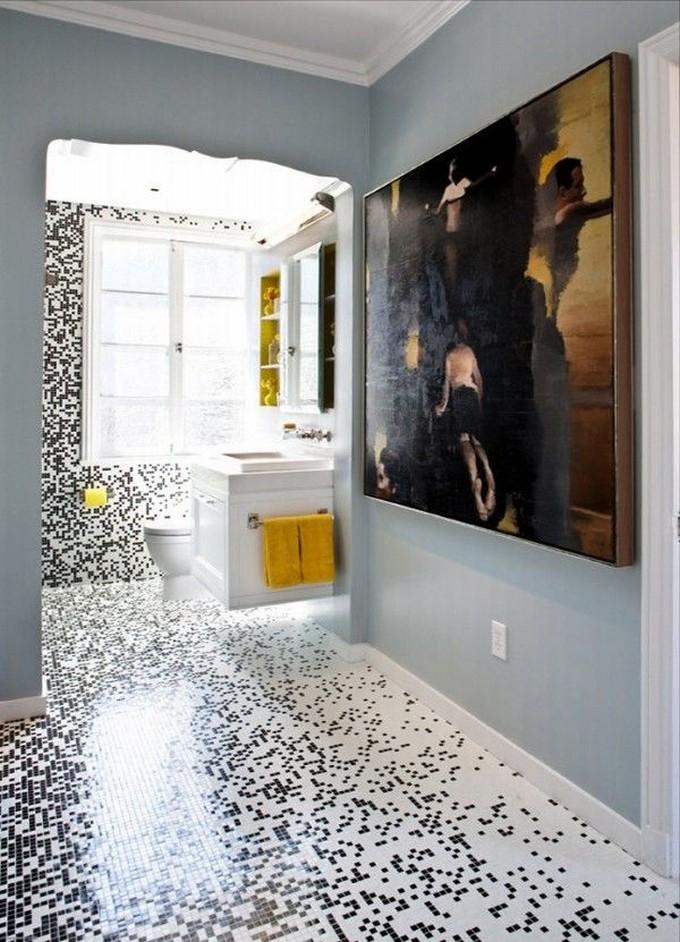 pixilated-3  LUXURY BATHROOM:  Mosaic Bathroom Design Tiles   pixilated 3