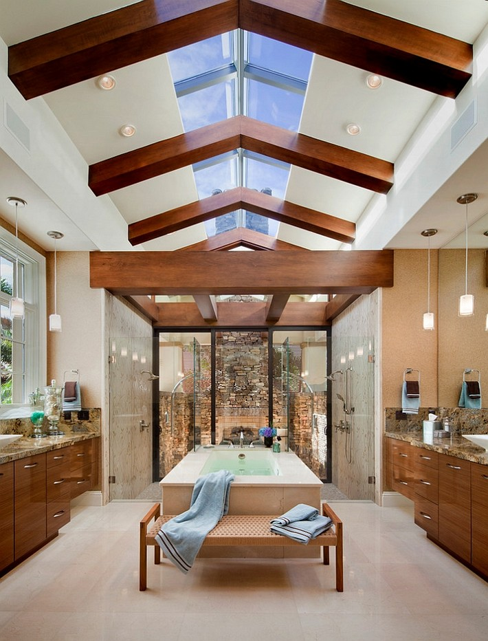 Luxury bathrooms with gorgeous skylights maison for Gorgeous bathrooms