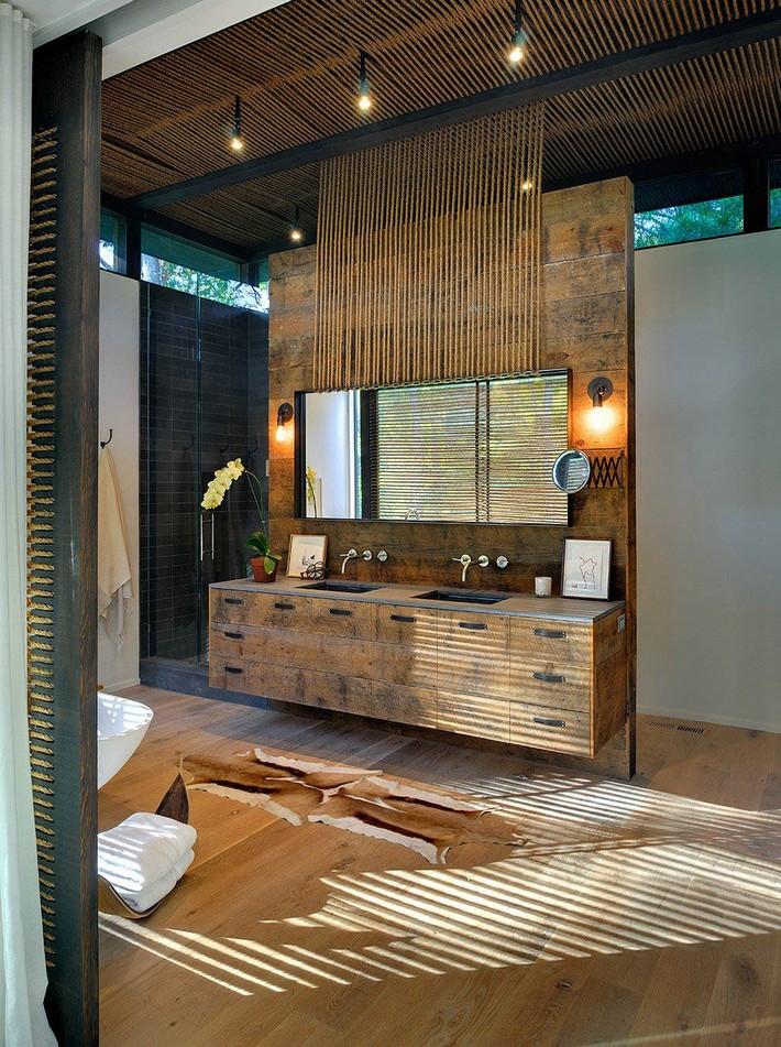 Rustic Modern Bathroom Design Ideas   Maison Valentina Blog on Rustic Traditional Decor  id=15479