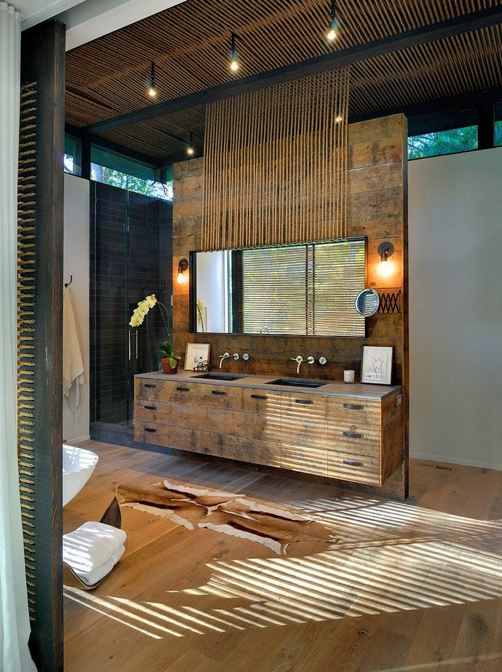 Rustic Modern Bathroom Design Ideas Inspiration And From