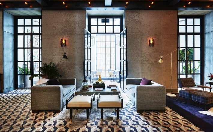 Sixty+Soho+tiles  The best hotels to Stay at Boutique Design New York Sixty Soho tiles