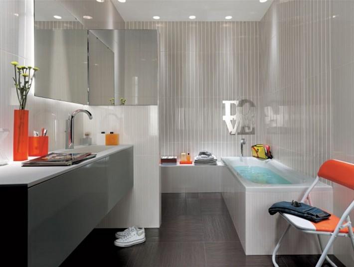 12 gray bathroom tiles 600x453 top to toe lavish bathrooms 12 gray