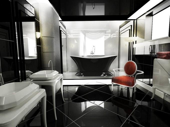Black-Art-Deco-Bathroom stylish bathroom 10 Steps to create a stylish bathroom Black Art Deco Bathroom