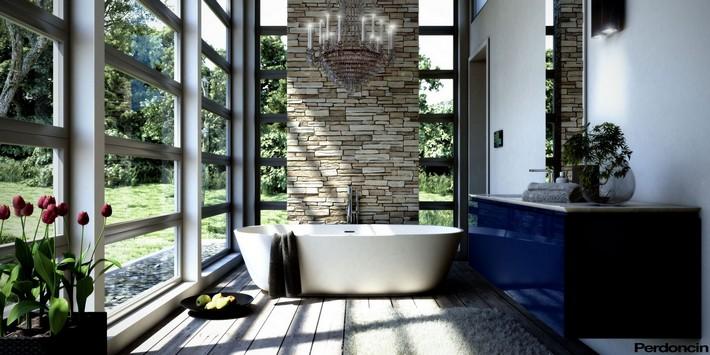 Blue-bathroom-vanity-unit  Luxury and Artistic Bathrooms to die for Blue bathroom vanity unit