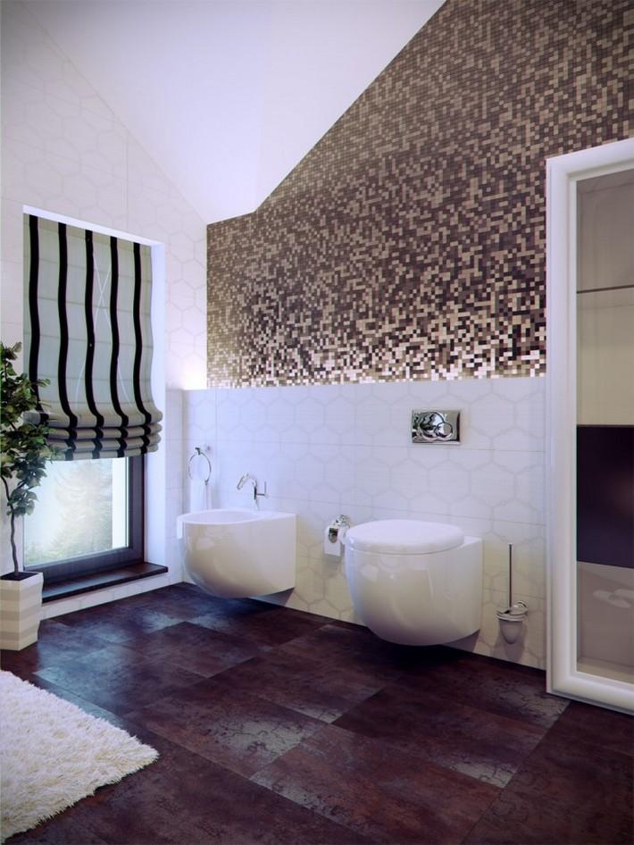 Modern-bathroom-with-tile-700x933  Luxury Bathrooms with Spa's Touch Modern bathroom with tile 700x933