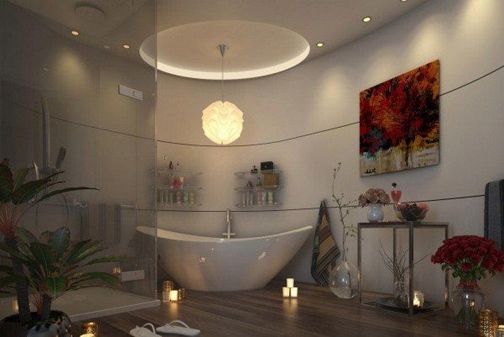 modern bathroom maison valentina  modern bathrooms Sunlight Gorgeous and Modern Bathrooms Sheraton Qatar