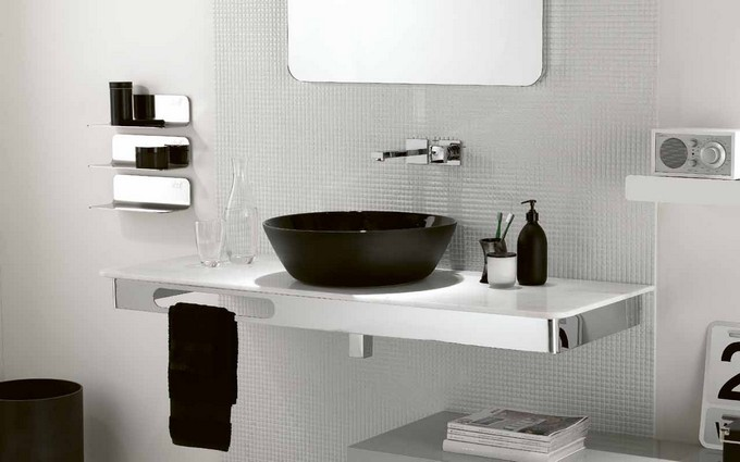 Black White opulence maison valentina black and white bathrooms Black and White Bathrooms of Spectacular Opulence Black and White opulence maison valentina