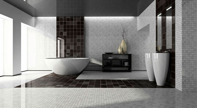 Black and White Bathrooms of Spectacular Opulence black and white bathrooms Black and White Bathrooms of Spectacular Opulence Black and White opulence maison valentina1