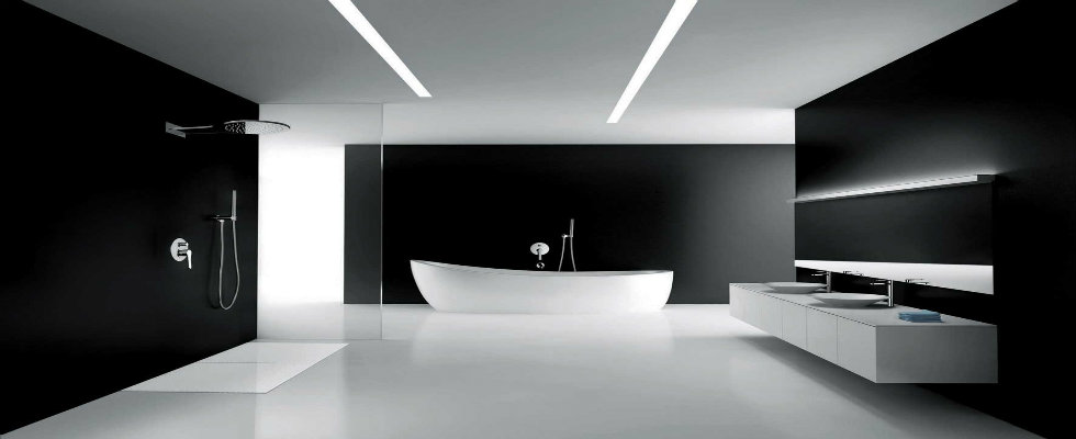 Modern Black And White Bathroom Maison Valentina Blog