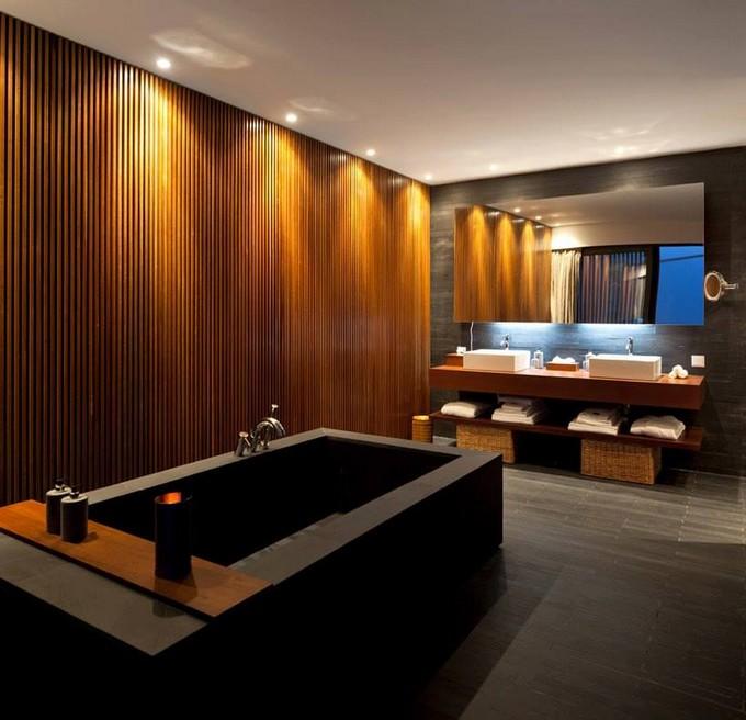 contrast in bathroom maison valentina luxury bathroom Ways To Make Your Luxury Bathroom Look More Expensive contrast