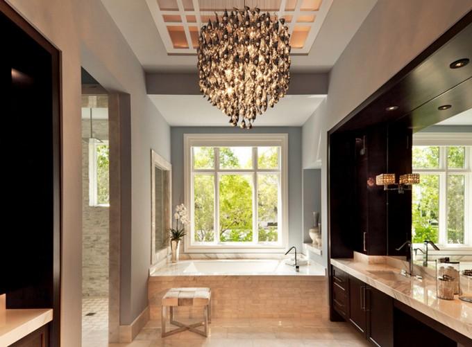 The perfect crystal chandelier for your luxury bathroom crystal chandeliers for bathrooms luxury bathroom the perfect crystal chandelier for your luxury bathroom 4 aloadofball Gallery