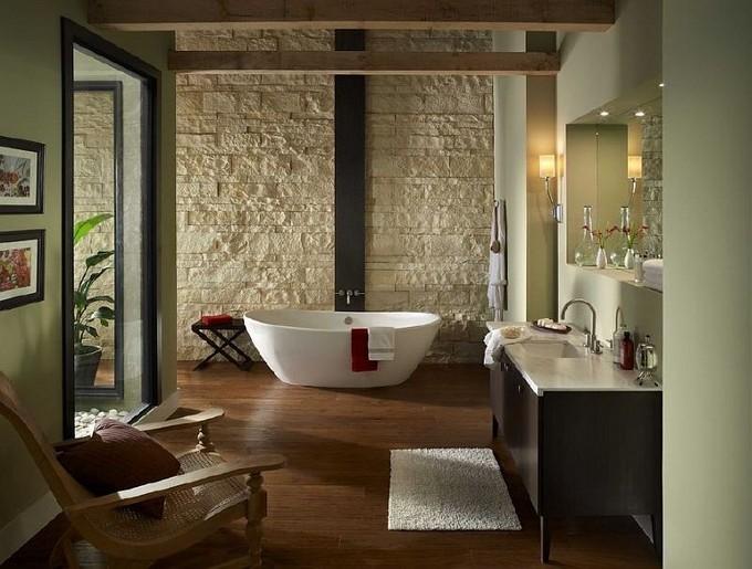 stone walls for bathrooms maison valentina