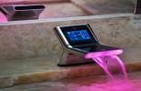 luxury bathrooms with futuristic sinks