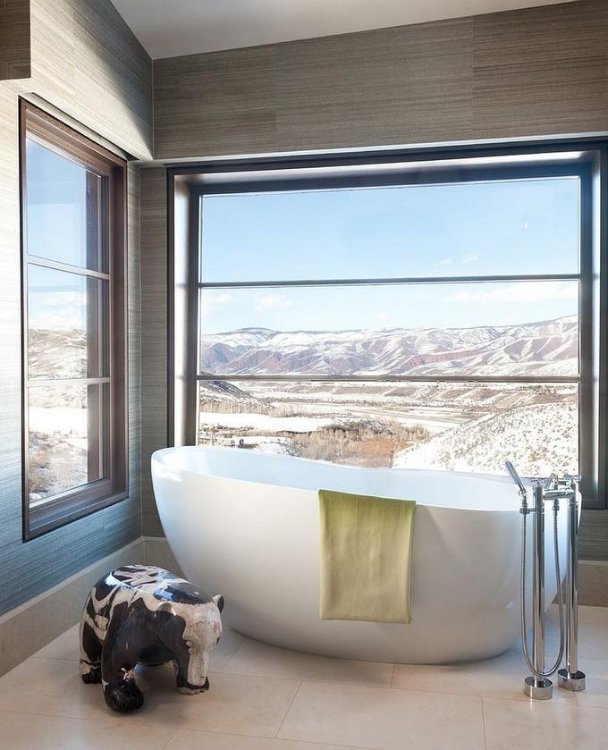Luxury Bathroom with mountain views 3 modern bathroom Modern Bathrooms With Mountain Views Luxury Bathroom with mountain views 3