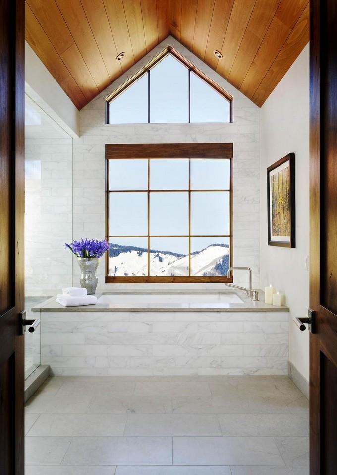 modern Bathroom with mountain views 10 modern bathroom Modern Bathrooms With Mountain Views Luxury Bathroom with mountain views 6