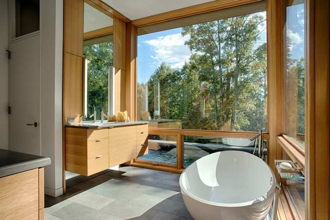 bathroom with view and roud bathtubs maison valentina  round bathtubs 10 Round Bathtubs Ideas RC20 1351x900
