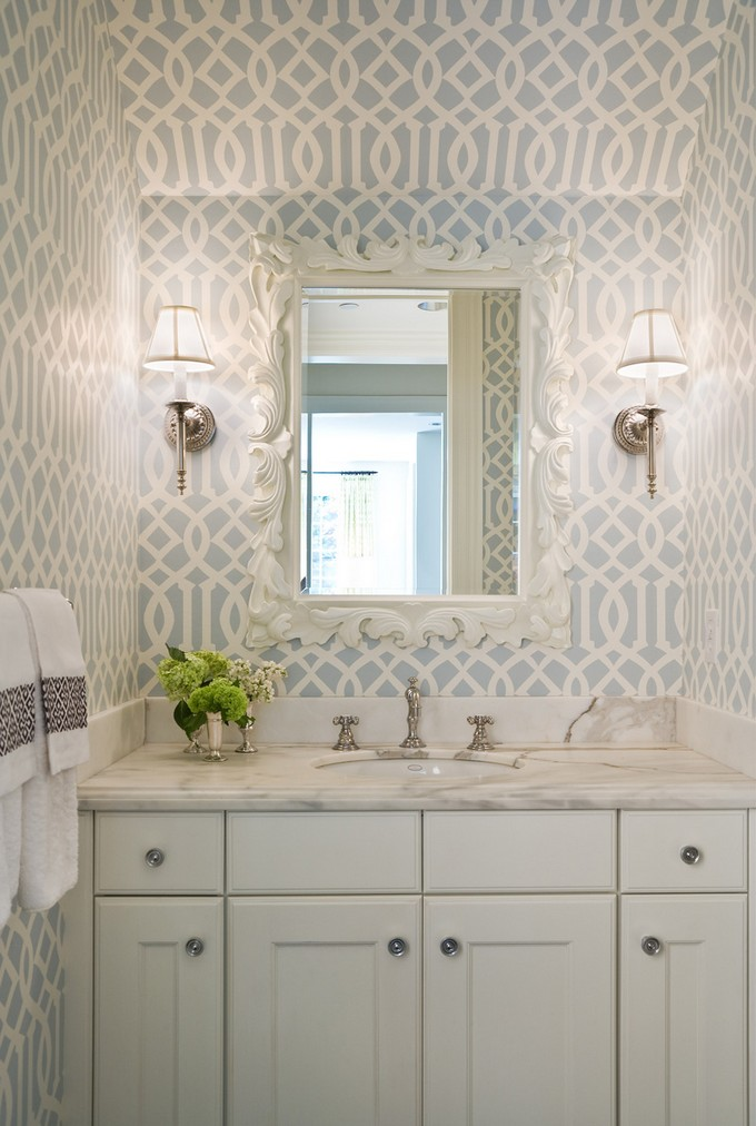 wallpaper ideas for small bathroom gorgeous wallpaper ideas for your modern bathroom 26178