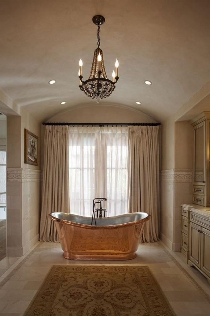 copper cool bathroom bathtub | 17 Gold Bathroom Designs with Copper Bathtub