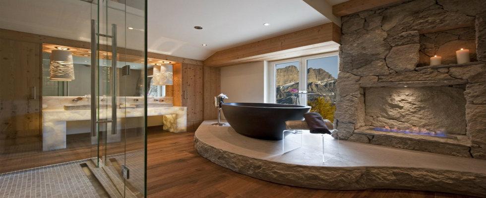 Bathroom  Amazing Luxury Bathrooms with Fireplaces. Luxury Bathrooms. Home Design Ideas