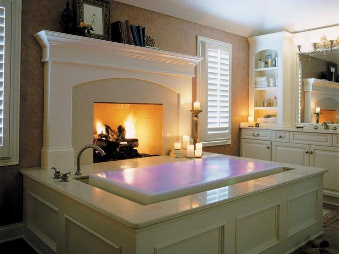 luxury bathrooms with fireplaces - maison valentina1