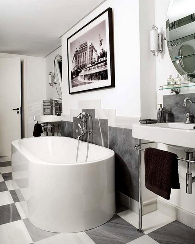 splendid art deco bathrooms ideas. Black Bedroom Furniture Sets. Home Design Ideas