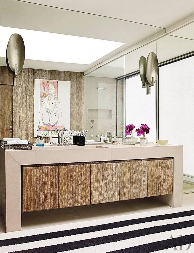 Splendid art deco bathrooms ideas for Architectural digest bathroom designs
