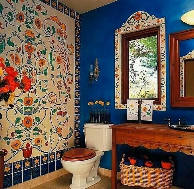 Mexican Tile Bathroom Home Design Ideas Pictures Remodel: 15 Attractive Bohemian Bathrooms Ideas