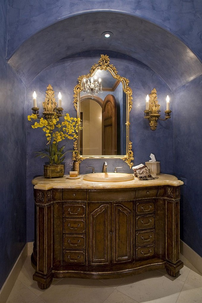 Blue And Yellow Twist For Luxury Bathrooms 888