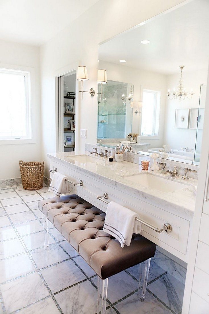 Add Chairs And Stools To Your Bathroom Design - Bathroom vanity chair or stool