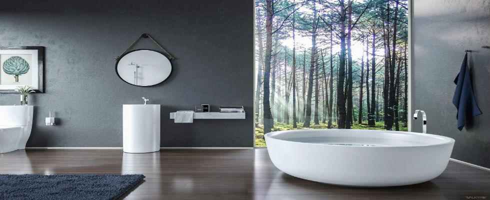 bathroom design Luxury Bathroom Design with Silver Accents feature