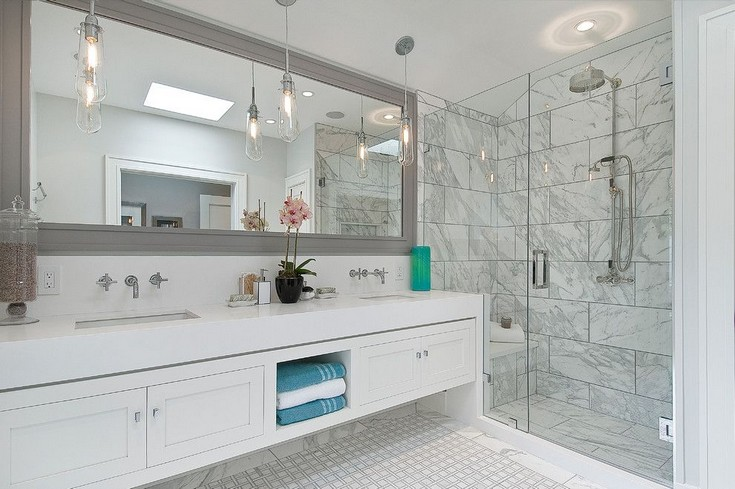 ... design! statuary-marble-for-a-transitional-bathroom-with-a-