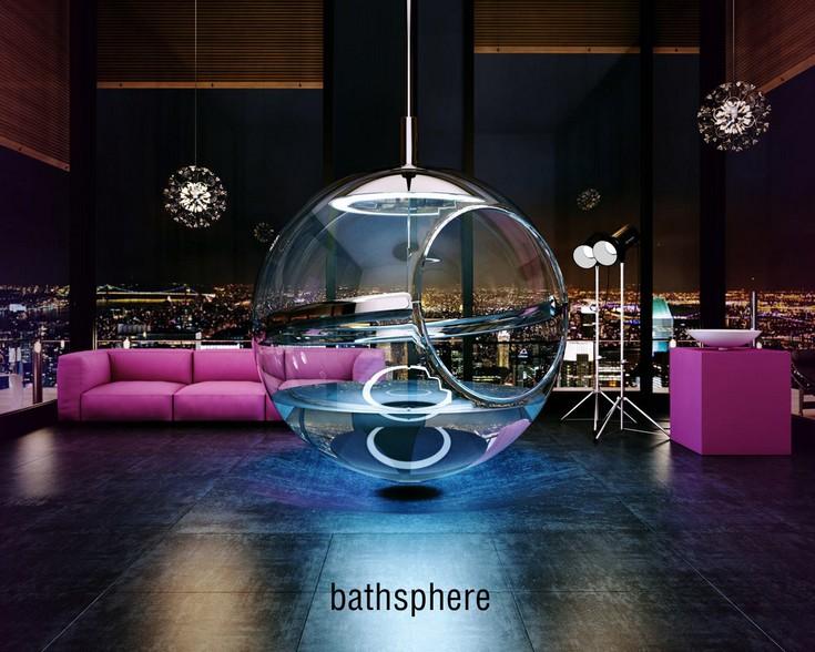 New Bathtub Concept: Glass Bubble Bathspere